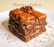 Слоеный ореховый пирог