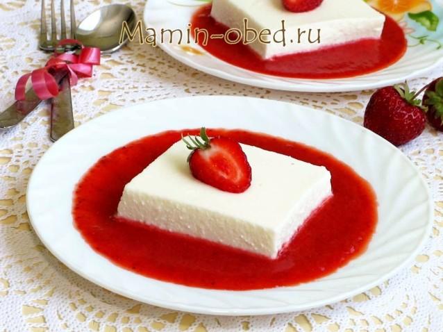 Творожный десерт «Клубничное наслаждение»