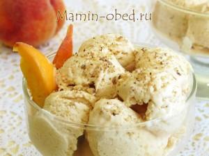 персиковое мороженое готово!