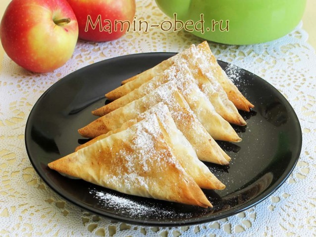 Хрустящие яблочные треугольники