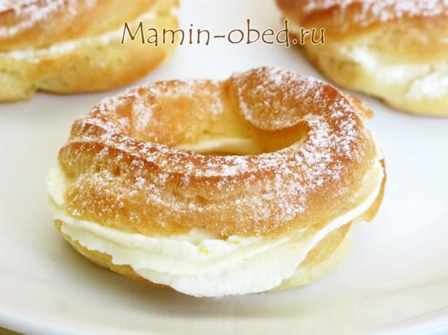 Заварные пирожные с творожно-апельсиновым кремом