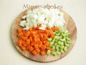 лук, морковь, сельдерей