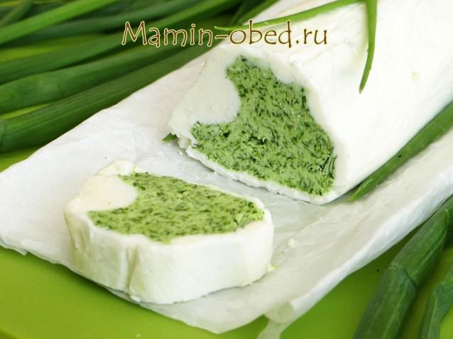 Зеленое масло с черемшой