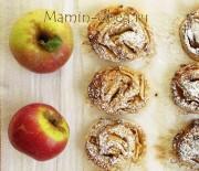 Творожные завитушки с яблоками