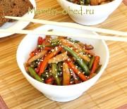 Стир-фрай из курицы с овощами