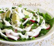 Салат из щавеля с яйцом и редисом