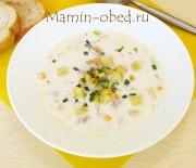Сливочный суп с курицей и кукурузой