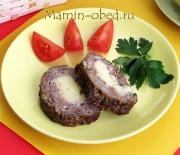 Мясной рулет с начинкой из картофеля